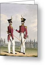 Field Officers Of The Royal Marines Greeting Card