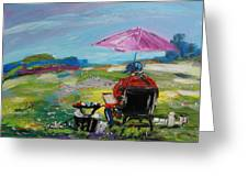 Field Painter  Greeting Card