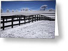 Fields And Fences Greeting Card
