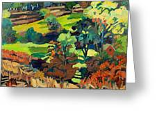 Fields In Autumn Greeting Card