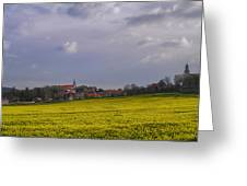 Fields Of Rapeseed In Bloom, Lower Greeting Card