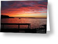 Fiery Afterglow Greeting Card