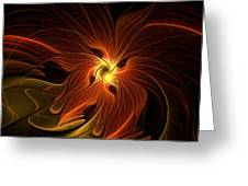 Fiery Greeting Card by Amanda Moore