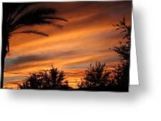 Fiery Arizona Sunset Greeting Card