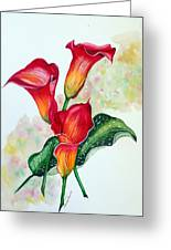 Fiery Callas Greeting Card