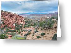Fiery Furnace Viewpoint - La Sal Mountains - Arches National Park - Ut Greeting Card