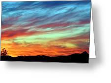 Fiery July Sunset Greeting Card