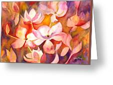 Fiery Magnolias Greeting Card