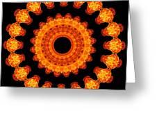 Fiery Pattern Greeting Card