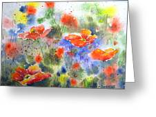 Fiery Poppies Greeting Card