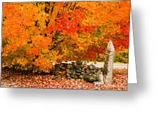 Fiery Rock Wall Greeting Card
