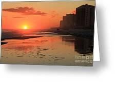 Fiery Seashore Greeting Card