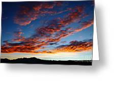 Fiery Skies Greeting Card