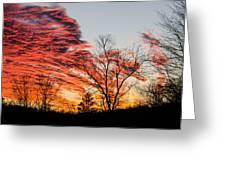 Fiery Sundown Greeting Card