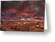 Fiery Sunrise Over Dead Horse Point State Park Greeting Card
