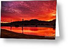 Fiery Sunrise Greeting Card