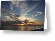Fiery Sunset Skys Greeting Card
