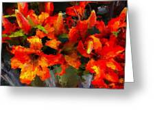 Fiery Tigers Greeting Card