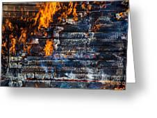 Fiery Transformation Greeting Card