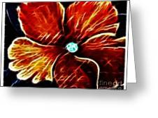Fiery Violet Expressive Brushstrokes Greeting Card