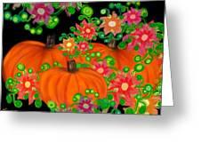 Fiesta Pumpkins Greeting Card