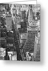 Fifth Avenue In New York City. Greeting Card