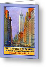 Fifth Avenue  New York Travel Poster Greeting Card