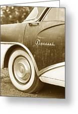 Fifties Buick Greeting Card
