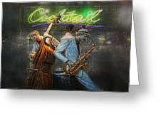 Fifties Cocktail Jazz Greeting Card