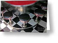 Fifties Diner Detail Greeting Card