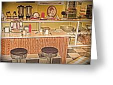 Fifty's Lunch Counter  Nostalgic Greeting Card