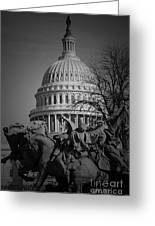 Fight In Washington Greeting Card
