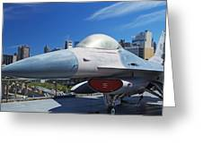 Fighting Falcon At Interpid Museum Greeting Card