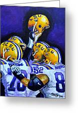 Fighting Tigers Of Lsu Greeting Card by Terry J Marks Sr