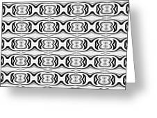 Figure 8 Black And White Pattern Greeting Card