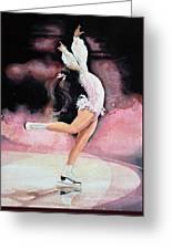 Figure Skater 20 Greeting Card by Hanne Lore Koehler