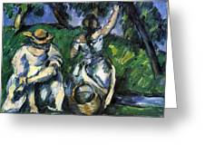 Figures By Cezanne Greeting Card