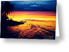 Fiji Paradise Sunset Greeting Card