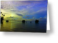 Fijian Sunrise Greeting Card
