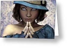 Fille Au Chapeau Greeting Card