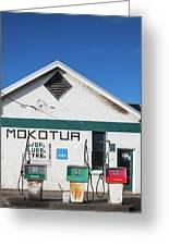 Filling Station, Mokotua, The Catlins Greeting Card