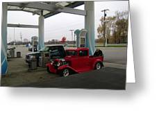 Filling Up Greeting Card