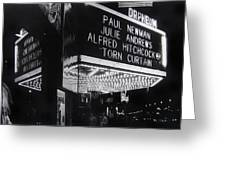 Film Homage Alfred Hitchcock Torn Curtain 1966 Orpheum Theater St. Paul Minnesota 1966 Greeting Card