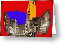 Film Homage Arthur Rothstein Theater Row  Majestic Melba  Palace Theaters Dallas Texas 1942-2008 Greeting Card