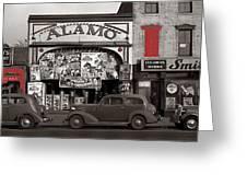 Film Homage Bela Lugosi Shadow Of Chinatown 1936 John Vachon Fsa Alamo Theater Washington D.c. 2010 Greeting Card