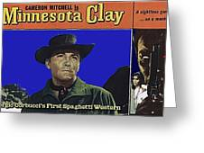 Film Homage Cameron Mitchell Minnesota Clay Lobby Card 1964-2013 Greeting Card