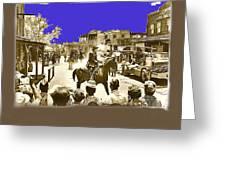 Film Homage Cameron Mitchell The High Chaparral Main Street Old Tucson Az Publicity Photo Greeting Card