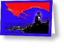 Film Homage Cary Grant Biplane Collage Publicity Photo North By Northwest 1959-2012 Greeting Card