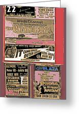 Film Homage Collage Drive-in Ads 1953 Tucson Arizona 2008 Greeting Card