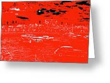 Film Homage Damnation Alley 1 1977 Demolition Derby Tucspn Arizona 1968-2008 Greeting Card by David Lee Guss